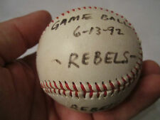 1992 NORTH RICHLAND HILLS REBELS WINNING GAME BALL - SIGNED - 6/13/92 - TUB CR