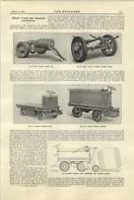 1921 CAMION ELETTRICO Lansing unità di potenza che trasporta botti corpo ribaltabile
