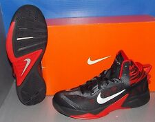 MENS NIKE ZOOM HYPERFUSE 2013 in colors BLACK / SILVER / UNIVERSITY RED SIZE 12