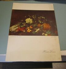 1961 Home Lines SS Homeric Cruise Ship Menu Joannes Fijt Still Life Cover Art