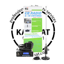 CB Radio Mobile Starter Kit TTI TCB550 with MiniSpringer Antenna and Mount 0.89m