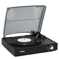 Kenley 3 Speed Retro Vinyl Record Player Stereo Turntable with Built-In Speakers