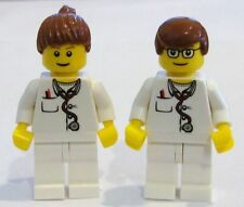☀️NEW Lego Minifig Doctor Male & Female w/ Stethoscope Nurse Hospital minifigure