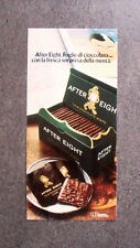 [GCG] I744 - Advertising Pubblicità -1979- AFTER EIGHT , FOGLIE DI CIOCCOLATO