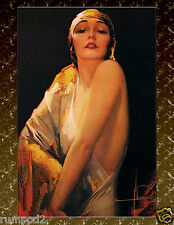 Art Nouveau Poster/Art Deco Print/Rolf Armstrong/Dream Girl in Slinky Gold Dress