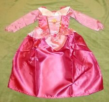 Disney Belle Au Bois Dormant Costume Princesse Rose Vif Robe Taille 98-104-110 S