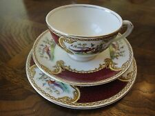 Royal Crown Myotts Teacup, Saucer, Plate Trio Set, Chelsea Bird, Signed, No Tax