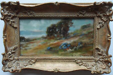 EVELYNE OUGHTRED BUCHANAN 1883-1979 SIGNED OIL ON CANVAS 'COASTAL SCENE' 1939
