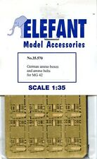 Elefant 1:35 WWII German Ammo Boxes and Ammo Belts for MG 42 - PE Detail #35.570