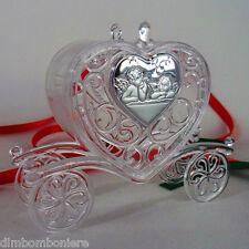 Bomboniere confettate scatolina carrozza angeli per nascita battesimo comunione