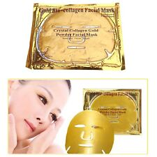 3 x GOLD PREMIUM COLLAGEN BIO ANTI AGEING WRINKLE FREE MOISTURISING  FACE MASK