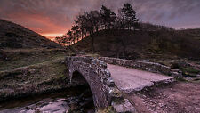 Framed Print - Stone Bridge on the Derbyshire Hills (Picture Poster Landscape)