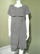 Ma Cherie Maternity Black & White Striped Dress~Size L
