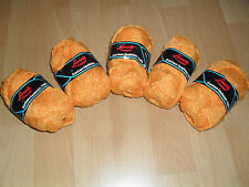250 gr Strickwolle 100 % Baumwolle  5 x 50 gr orange