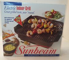 NEW VINTAGE SUNBEAM INDOOR ELECTRIC GRILL 4780 NEVER USED