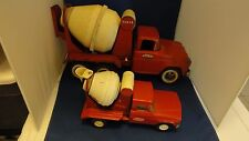 2 Tonka Collectible 1960's Cement Mixer Trucks Jeep and Ford