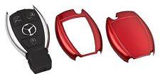 Schlüssel Key Cover für Mercedes Hülle Fernbedienung Blende Rot Metallic C26
