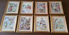 Absolutely Stunning Rare Set of Gilt Framed Vintage Alice in Wonderland Prints