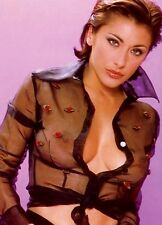 "SABRINA SALERNO ~  BIG BOOBS ~ SHEER SHIRT ~ SEXY 7X5"" GLOSSY POSTCARD."