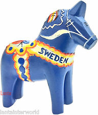 Dala Blue Horse Dalecarlian Blue Sweden Swedish 3D Fridge Magnet Refrigerator