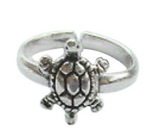 Sterling Silver (925) Adjustable Turtle Toe Ring   !!    Brand  New !!