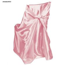 LinenTablecloth Satin Universal Chair Cover Pink