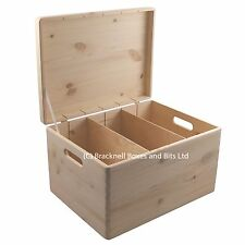 Wooden storage box with lid and dividers BPU170D 39.5x29.5x23.5CM toys shoes