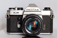 ASAHI PENTAX KM FILM CAMERA + SMC PENTAX-M 50 MM 1:1.7 LENS (METER NOT WORKING)
