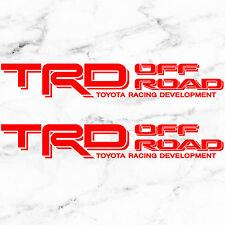 """TOYOTA TACOMA TRD OFF ROAD DECALS STICKERS (2) 18""""X3"""" DECALS RED"""