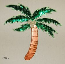 1PC~BIG PALM TREE~IRON ON EMBROIDERED APPLIQUE