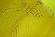 YELLOW MESH FABRIC PVC POLYESTER FABRIC MATERIAL HEAVY WEIGHT 10 oZ COMMERCIAL