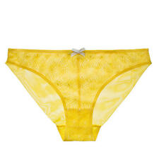 Elle Macpherson Sz L $30 Bikini Brief Intimates 1977 Primrose Yellow Panties New