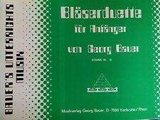 Georg Bauer - Bläserduette für Anfänger - Stimme in B