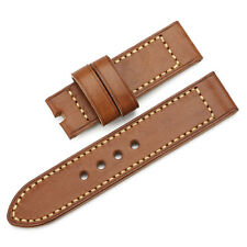 24mm Genuine Calf Leather Smooth Finish Vintage Watch Band Strap fit PAM Luminor