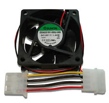 Sunon 60mm x 25mm 2 Ball Bearing 12V Fan w/ 4 Pin Molex Connector