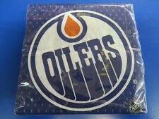 Edmonton Oilers NHL Pro Hockey Sports Banquet Party Blue Paper Beverage Napkins