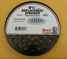 "Sioux Chief Floor Drain Cover 6-3/4 "" Dia x 3/8 "" D Black"