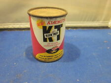 VINTAGE ALEMITE K T KLEEN TREET 2 CYCLE OUTBOARD METAL CAN FULL 4 OZ MAN CAVE