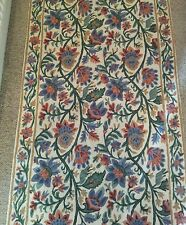 NEW ANTHROPOLOGIE HAND EMBROIDERED PERSIAN STYLE RUNNER RUG