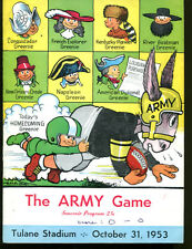 1953 Tulane v Army Football Program 10/31/53 Ex 22458 Chase