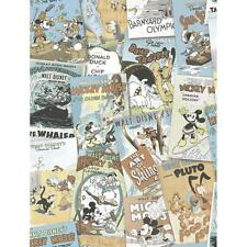 DISNEY MICKEY MINNIE DONALD DUCK COMIC COVER CHILDRENS WALLPAPER VINTAGE