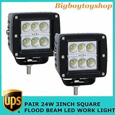 2X24W CREE Flood LED Work Light Cube Pods Offroad Truck Jeep Square Vehicle 16W