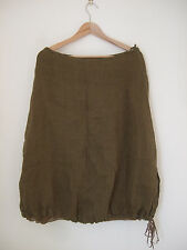 Designer Eileen Fisher Lined Skirt Size S Calf length uk 10 100% Linen