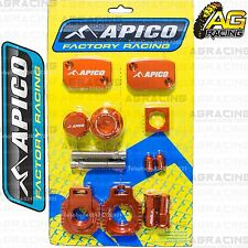 Apico Bling Pack Orange Blocks Caps Plugs Clamp Covers For Husaberg FE 450 09-14