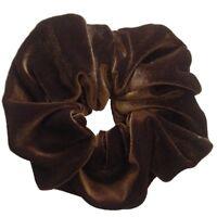 Large Coloured Velvet Feel Hair Scrunchie Bobble Hair Band Elastic