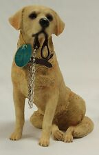 Golden Labrador Sitting Dog Figurine 'Walkies' Ornament by Leonardo - New & Boxe