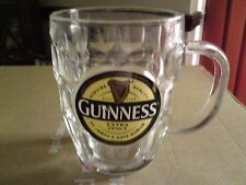 GUINNESS EXTRA STOUT ST JAMES'S GATE DUBLIN PUB BAR DIMPLED TANKARD GLASS