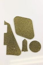 Gold Glitter Gibson Les Paul Pickguard, cavity covers, and Truss rod cover set