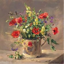 Anne cotterill blank greeting art carte-coquelicots dans royal mug-fleurs sauvages