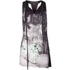 ALL SAINTS GREY RACER BACK WHITE STALLION DITTY DRESS TOP SIZE 10 EXCELLENT COND